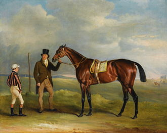 Chorister (horse) - The Marquis of Cleveland's 'Chorister, winner of the 1831 St. Leger, held by his trainer John Smith by John Ferneley