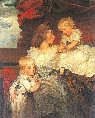 John Ponsonby, 4th Earl of Bessborough - Henrietta Ponsonby, Countess of Bessborough with her sons William and John by John Hoppner (1787)