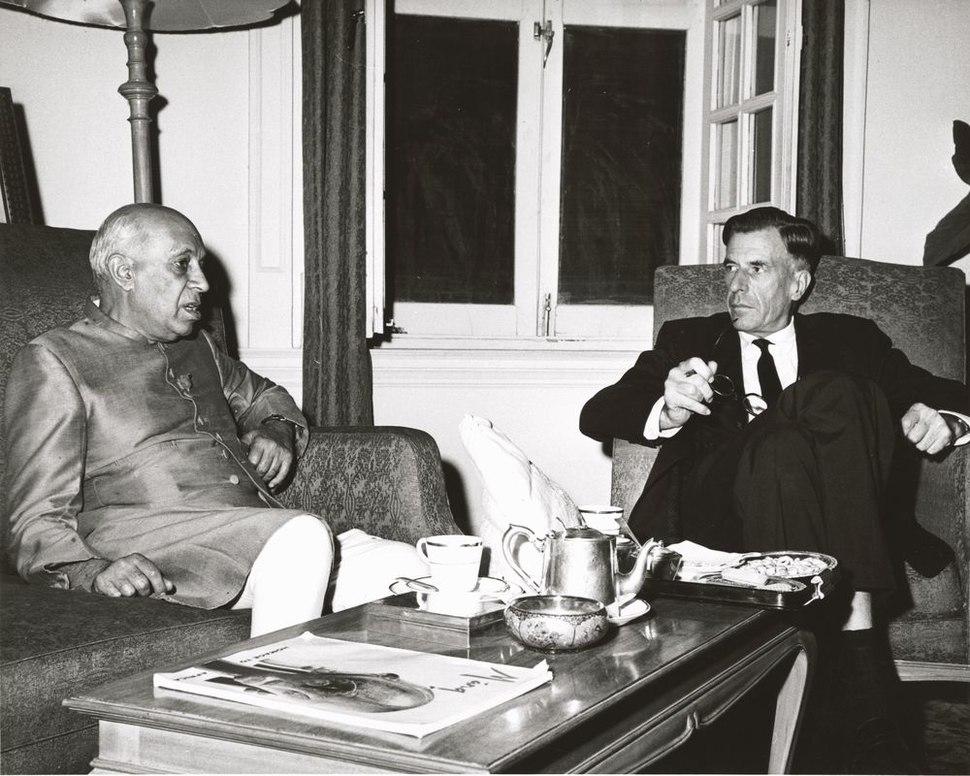 John Kenneth Galbraith and Jawaharlal Nehru