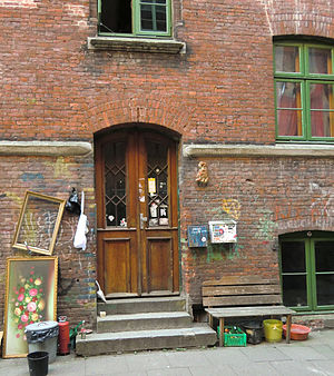 The Beatles in Hamburg - The doorway of Jäger-Passage, Wohlwillstrasse 22, as it looks today