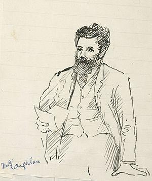 John McLachlan (politician) - John McLachlan caricature, 1896