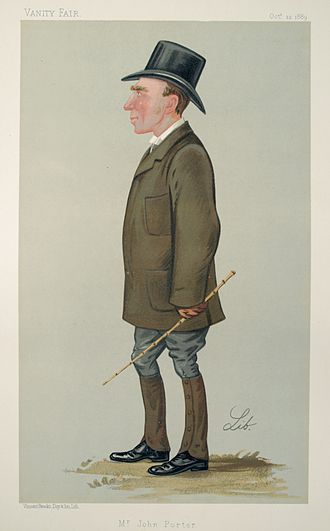 John Porter (horseman) - As depicted by Liborio Prosperi in Vanity Fair, 12 October 1889