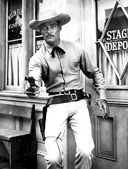 Russell som Dan Troop i Lawman, 1959.