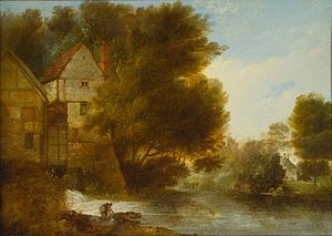 John Webber - Image: John Webber's oil painting 'Abbey Mill, Shrewsbury'