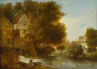 John Webber - Image: John Webber's oil painting 'Abbey Mill, Shrewsbury'