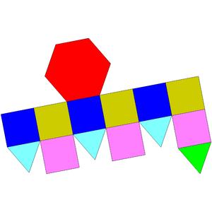 Elongated triangular cupola - Image: Johnson solid 18 net