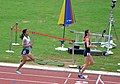Jordan's Tamara Amer And India's Monika Chaudhary, Who Finished Third And Fourth In The Women's 1500m First Round Race.jpg