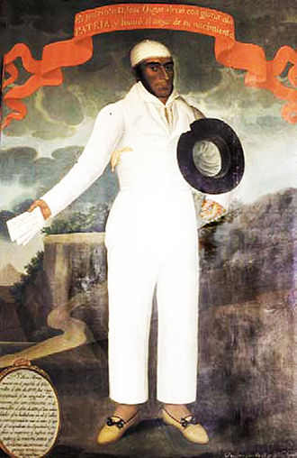 José Olaya - Portrait by José Gil de Castro