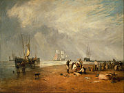 Joseph Mallord William Turner - The Fish Market at Hastings Beach - Google Art Project