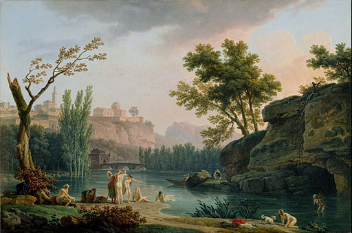 Joseph Vernet - Summer Evening, Landscape in Italy - Google Art Project