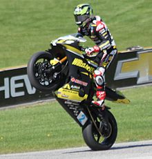 Josh Herrin Supersport Road America 2015 wheelie after race.jpg