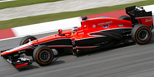 2013 Malaysian Grand Prix - Jules Bianchi finished 13th for Marussia.