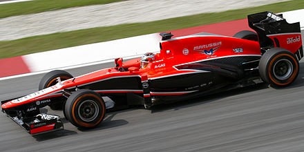 9507be5917969a Jules Bianchi driving the Marussia MR02 at the 2013 Malaysian Grand Prix