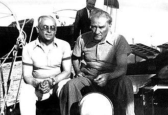 Celâl Bayar - Mustafa Kemal Atatürk and Celal Bayar on the Ertugrul Yacht, 1937