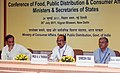 K.V. Thomas reviews the storage and movement of foodgrains with state food ministers.jpg