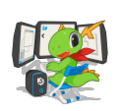 KDE mascot Konqi for KDE development applications.png