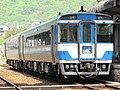 KIHA 185 Tsurugisan 4go at AwaIkeda Station.jpg