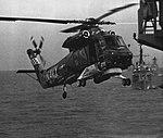 Kaman SH-2F Seasprite of HSL-34 Det. 3 in flight over the Mediterranean Sea, in 1984.jpg