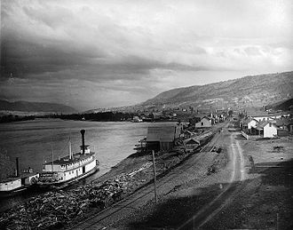Kamloops - Paddle steamer at Kamloops in 1887