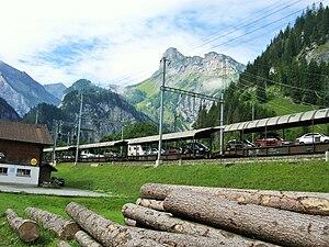 Bern–Lötschberg–Simplon railway - Car transport service (Kandersteg)