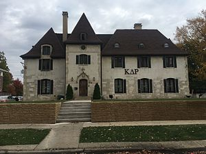 Kappa Delta Rho - University of Illinois chapter house, listed on the National Register of Historic Places