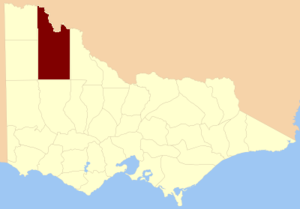 County of Karkarooc - Location in Victoria