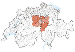 Central Switzerland - Image: Karte Zentralschweiz 2013.2