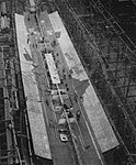 Keel of USS San Juan (CL-54) at the Fore River Shipyard, in May 1940.jpg