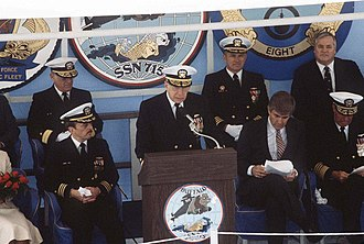 Jack Kemp - Kemp and naval officers