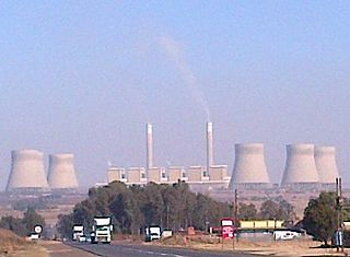 Kendal Power Station power plant in South Africa