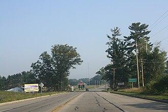 Keshena, Wisconsin - Image: Keshena Wisconsin Sign Casino South WIS55