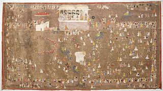 Maharana Sangram Singh of Udaipur Entertaining Members of the Dutch East India Company led by Johan Josua Ketelaar in 1711