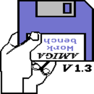 Kickstart (Amiga) - The default boot screen displayed under Kickstart 1.3