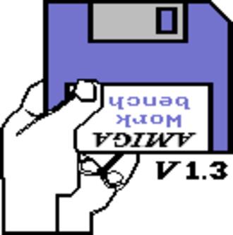 Kickstart (Amiga) - The default boot screen displayed under Kickstart 1.3
