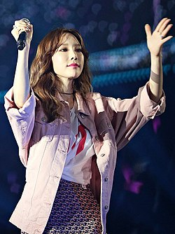 Kim Tae-yeon in Best of Best Concert on April 21, 2018 (1).jpg