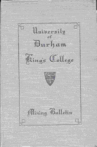 Edward Fenwick Boyd - University of Durham King's College Mining Bulletin