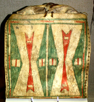 Plains hide painting - Kiowa parfleche, ca. 1890, Oklahoma History Center