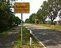 Klanxbüll Kreis Nordfriesland Ortseingangstafel.jpg