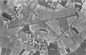 RAF Knettishall - Image: Knettishallairfield 12may 1951