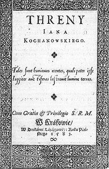 https://upload.wikimedia.org/wikipedia/commons/thumb/e/e8/Kochanowski_-_Treny_%281583%29.jpg/220px-Kochanowski_-_Treny_%281583%29.jpg