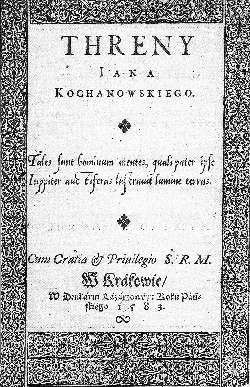 Kochanowski - Treny (1583)
