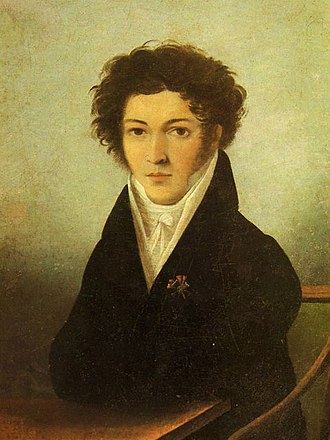 Konstantin Batyushkov - Portrait by unknown artist, 1810's