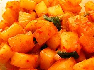 Kkakdugi A variation of kimchi made from diced radish