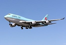 Een Boeing 747 van Korean Air
