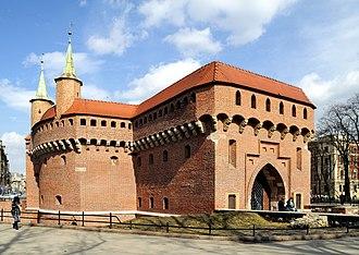 Gothic architecture in modern Poland - Kraków Barbican