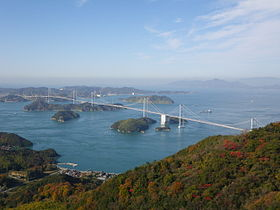 Kurushimakaikyo Ohashi bridge from Mt.Kirosan.jpg