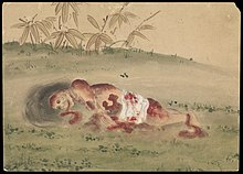 Kusozu; the death of a noble lady and the decay of her body. Wellcome L0070292.jpg