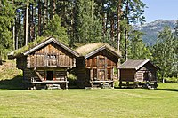 Kviteseid bygdetun - stabbur and lofts (81580086).jpg