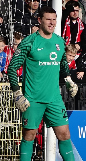 Kyle Letheren - Letheren playing for York City in 2017
