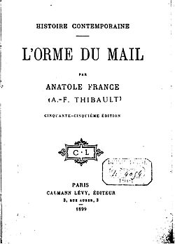 Image illustrative de l'article Histoire contemporaine (Anatole France)